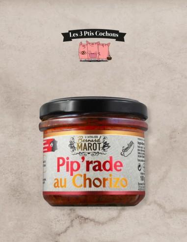 """Piperadou au Chorizo """"Piment Espelette"""" - Les 3 ptis cochons"""