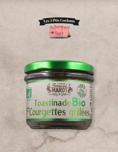 Toastinade BIO Courgettes Grillées - 90gr - Les 3 ptis cochons