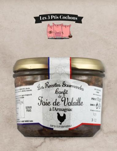 Confit de Foie de Volaille à l'Armagnac - 180g - Les 3 ptis cochons