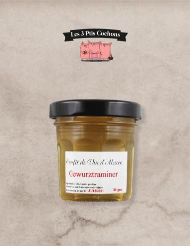 Confit de Vin d'Alsace Gewurztraminer 50gr - Les 3 ptis cochons