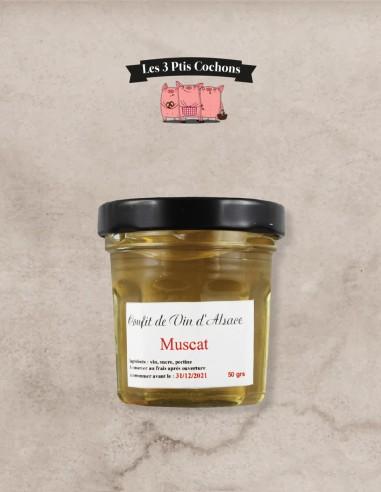 Confit de Vin d'Alsace Muscat 50gr - Les 3 ptis cochons