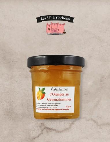 Confiture d'Oranges au Gewurztraminer - 50 g - Les 3 ptis cochons