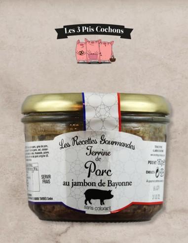 Terrine de Campagne au Jambon de Bayonne - 180gr - Les 3 ptis cochons