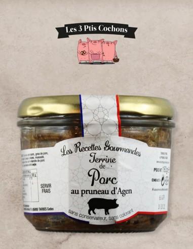 Terrine de Porc aux Pruneaux d'Agen - 180gr - Les 3 ptis cochons
