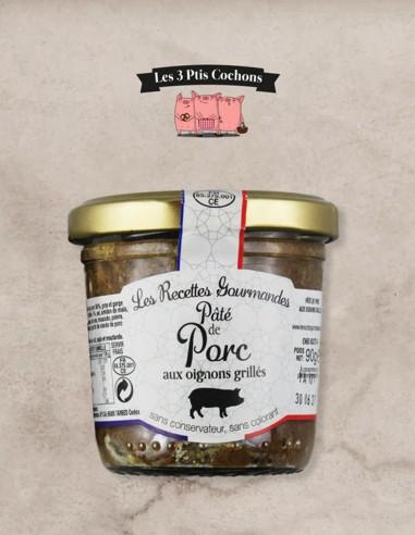 Paté de Porc aux Oignons Grillés - 90gr - Les 3 ptis cochons