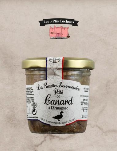 Pâté de Canard à l'Armagnac - 90 g - Les 3 ptis cochons