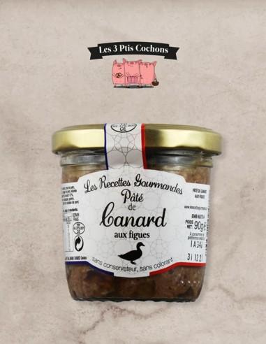 Paté de Canard aux Figues - 90gr - Les 3 ptis cochons