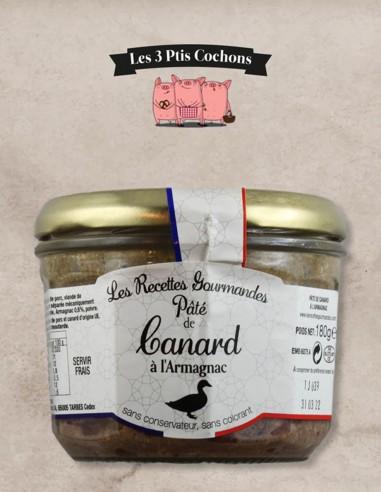 Paté de Canard à l'Armagnac - 180gr - Les 3 ptis cochons