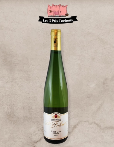 """Pinot Gris """"Tradition"""" Les 3 Ptis Cochons Strasbourg"""