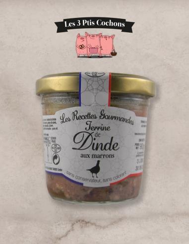 Terrine de Dinde aux Marrons - 90 g - Les 3 ptis cochons