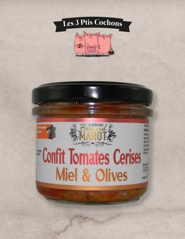 TOMATES CERISES confites Miel & Olives