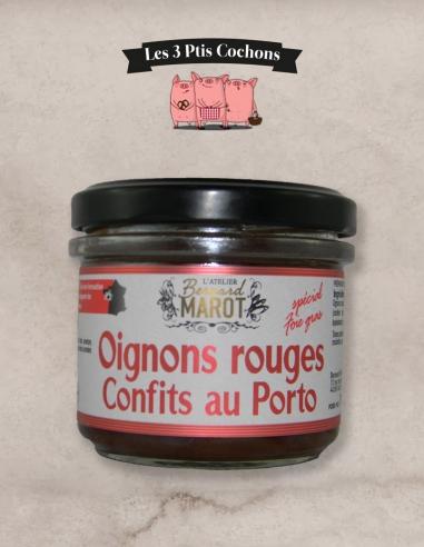 """Oignons rouges confits au porto """"spécial foie gras"""" - les 3 ptis cochons - Strasbourg"""