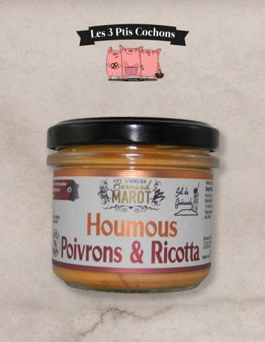 """HOUMOUS Poivrons & Ricotta """"Sel de Guérande"""" - Les 3 ptis cochons"""
