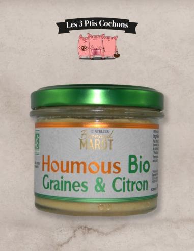 HOUMOUS BIO Graines & Citron - Les 3 ptis cochons