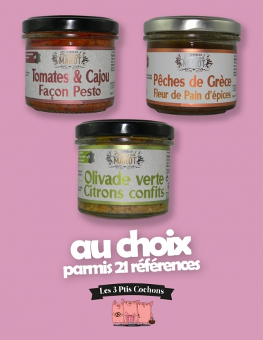 Trio de tartinables 90g - les 3 Ptis cochons - Strasbourg