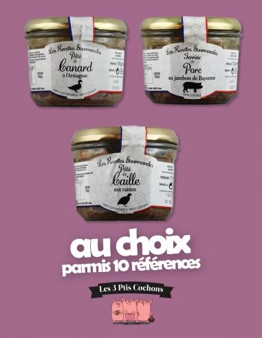Trio de Recettes Gourmandes 180g - Les 3 ptis cochons - Strasbourg